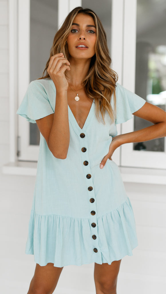 Hazel Mini Dress (Blue)