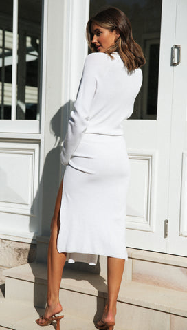 Rubie Dress (White) Sample Sale