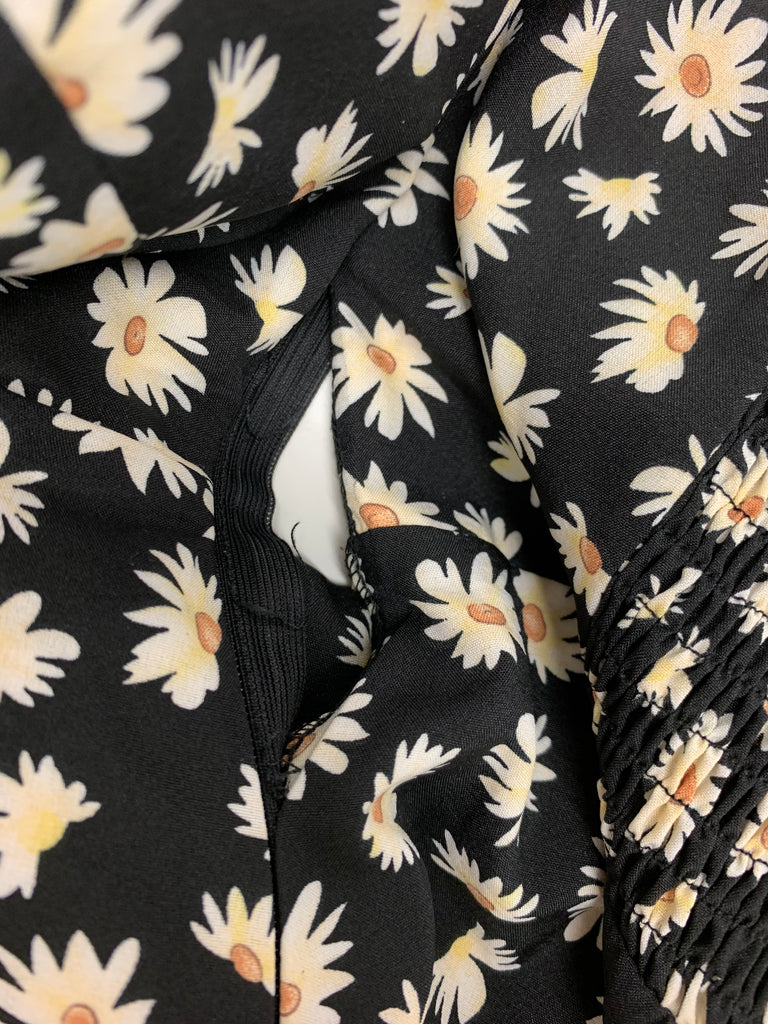 Montana Dress (Black Floral) (Sample Sale)