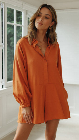 Caswell Playsuit (Terracotta)