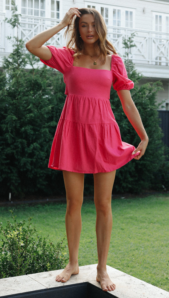 Eleri Dress (Fuchsia)