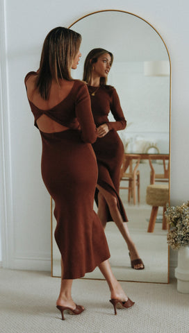 Aurore Dress (Chocolate)