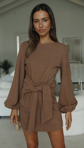 Lacey Dress (Chocolate)