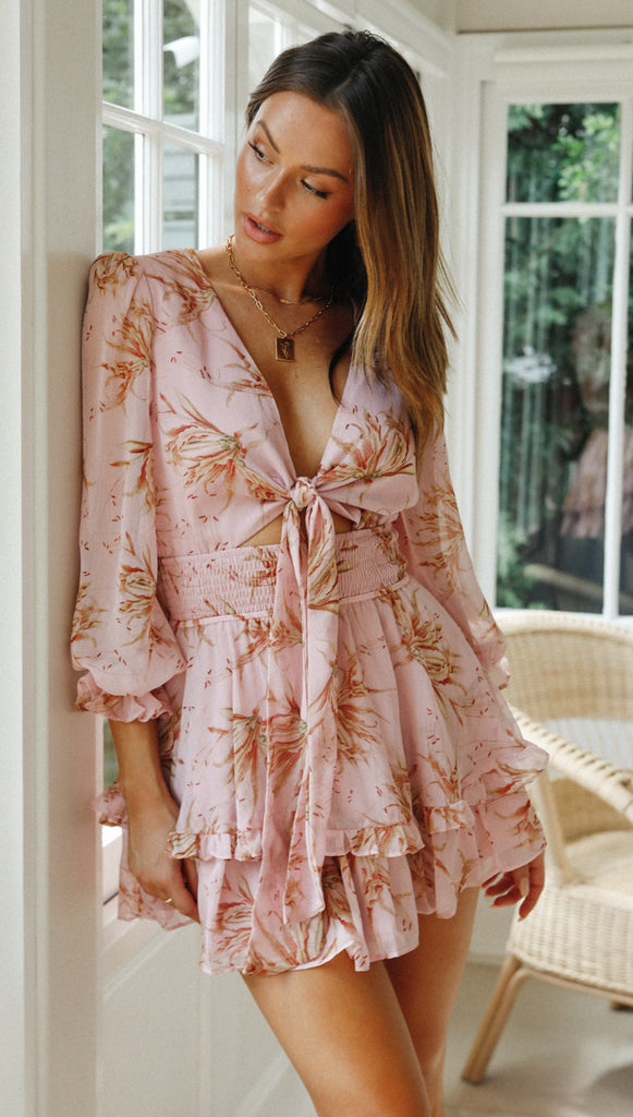 Anthea Dress (Pink Floral)
