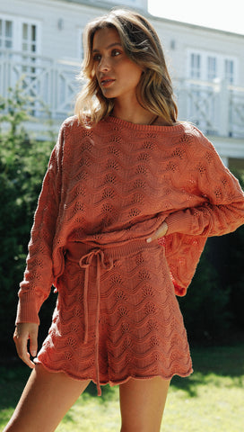 Romie Top (Terracotta)