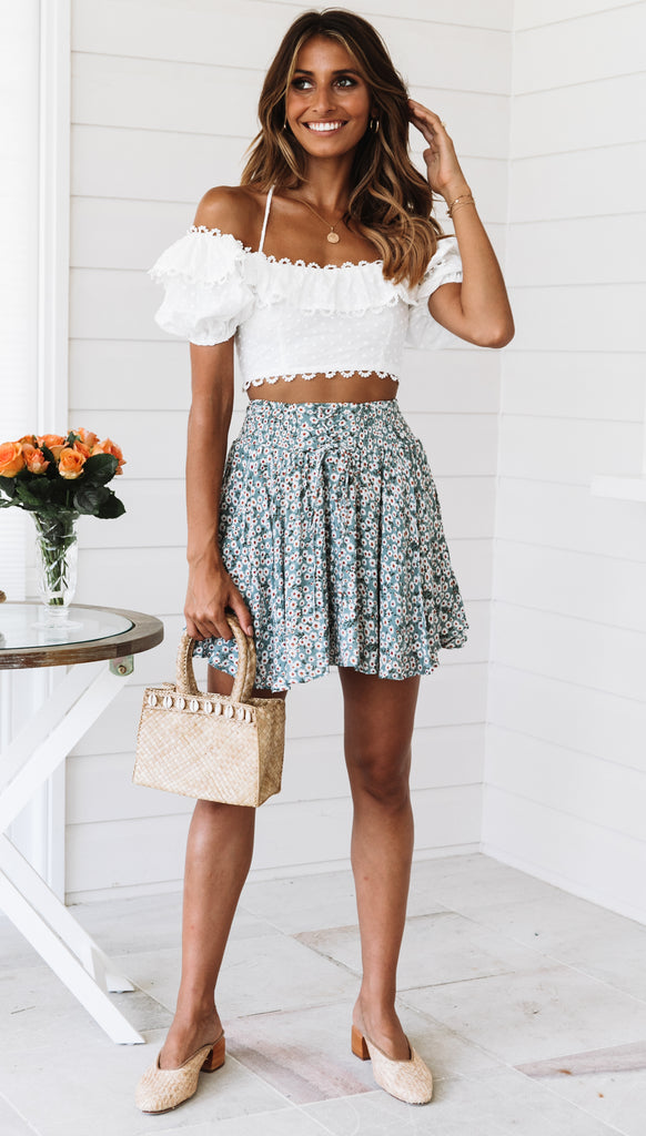 Moon Tide Skirt (Sage Floral)