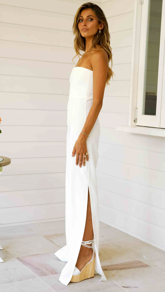 Glamour Jumpsuit (White)