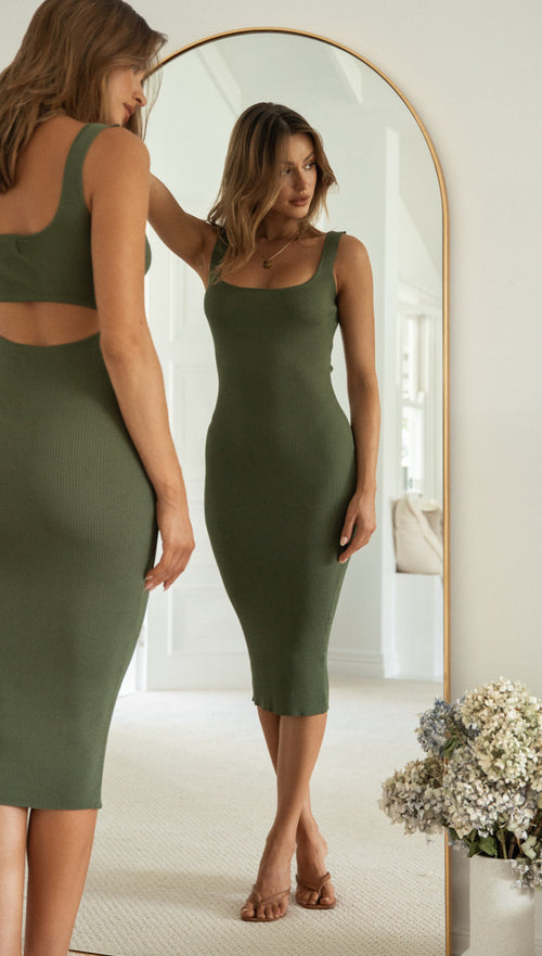 Xanthe Dress (Khaki)