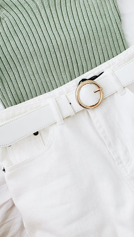 Oakland Belt (White)