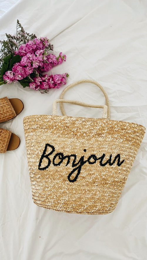Bonjour Woven Tote