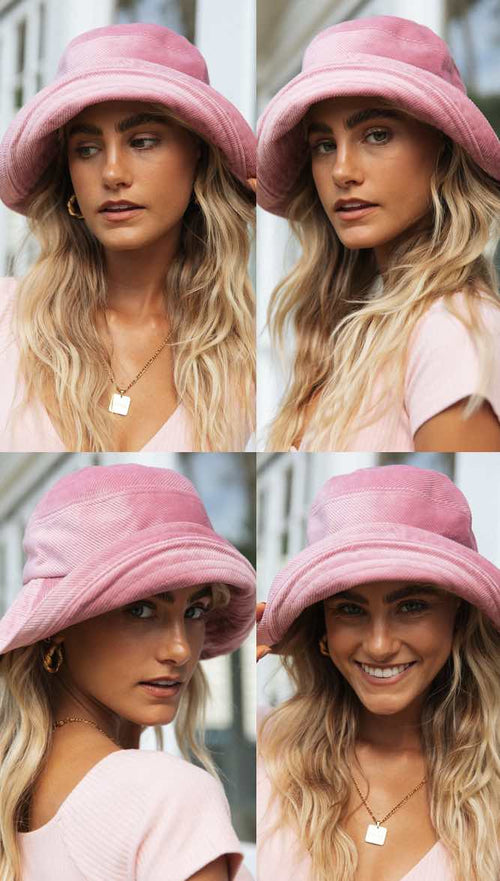 Vanessa Bucket Hat (Blush)