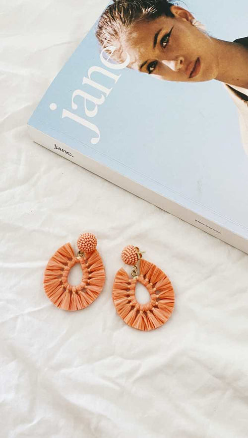 Viva Earrings (Peach)