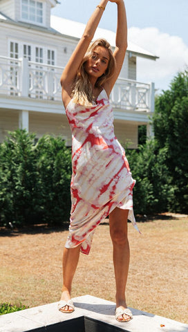 Heartbreaker Midi Dress (Raspberry)