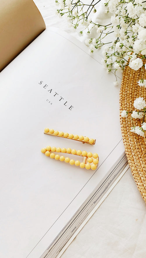 Ophelia Hair Clip Set (Yellow)