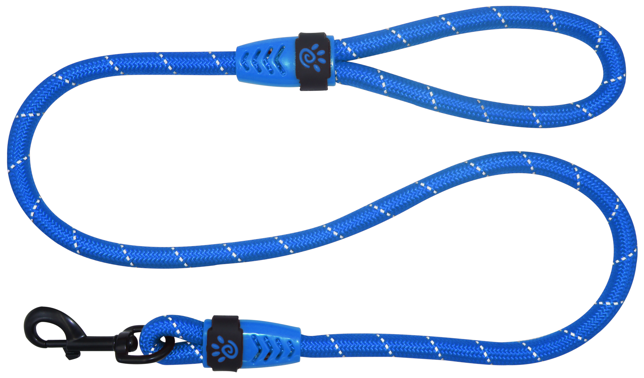 "DOCO® 4ft or 6ft Reflective Rope Leash w/ Plastic Encased Handle Loop (1/2"" Width) - www.docopet.com"