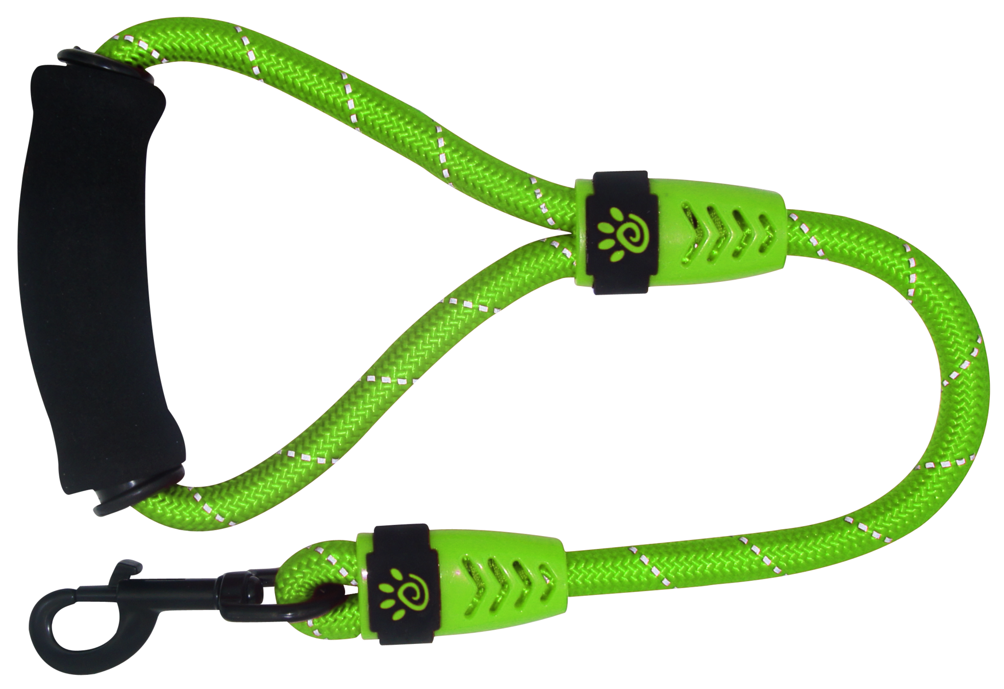 "DOCO® 20"" Reflective Traffic Rope Leash w/ ErgoCurve™ Foam Handle Ver. 2 - www.docopet.com"