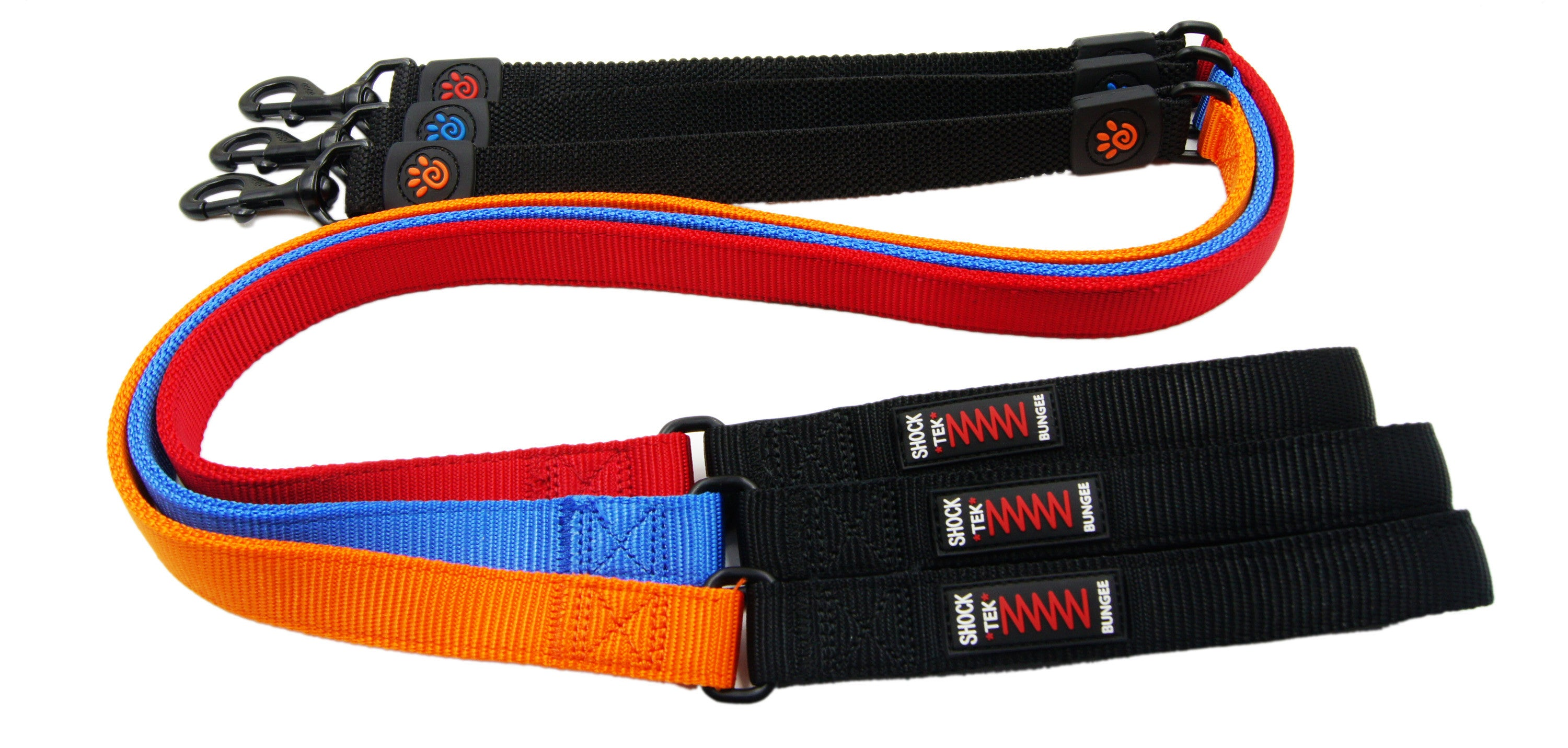 DOCO® 4ft Shock Absorbing BUNGEE Leash - Black - www.docopet.com