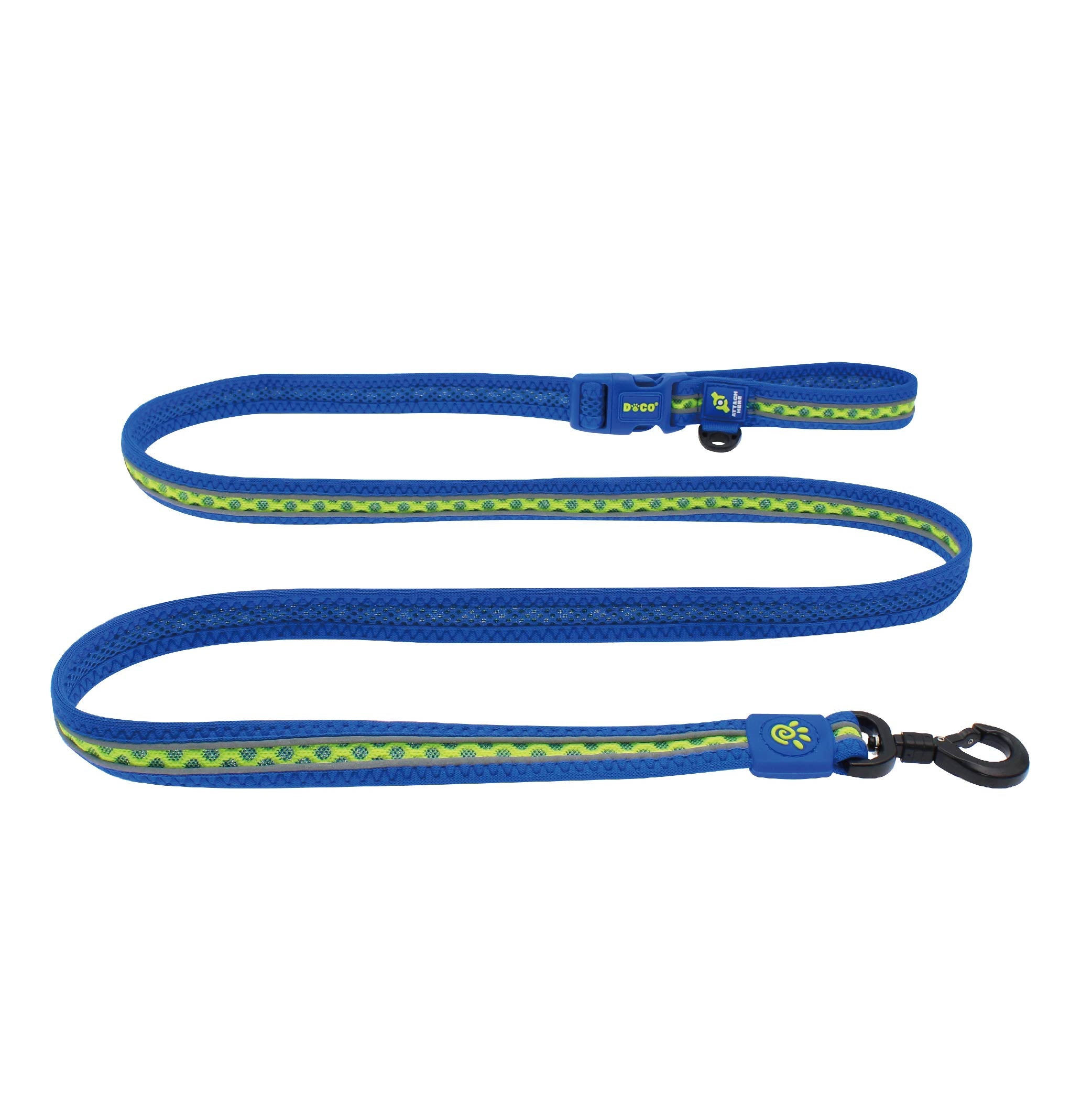 DOCO® Lunar Air Easy Snap Multifunction Leash - 6ft w/ Click and Lock Snap - www.docopet.com