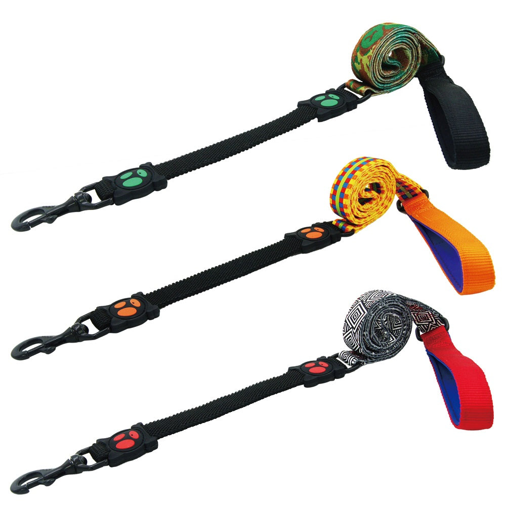 DOCO® 4ft LOCO Shock Absorbing BUNGEE Leash - Lime Street - www.docopet.com
