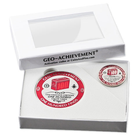 100 Finds Geo-Achievement Set - Ground Zero Geocaching Supplies  - 2
