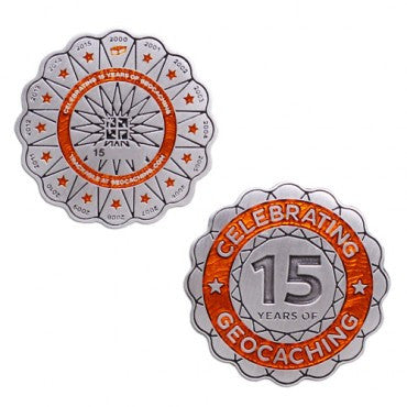 15 Years of Geocaching Geocoin - Ground Zero Geocaching Supplies