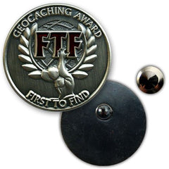 FTF Geocaching Award Pin