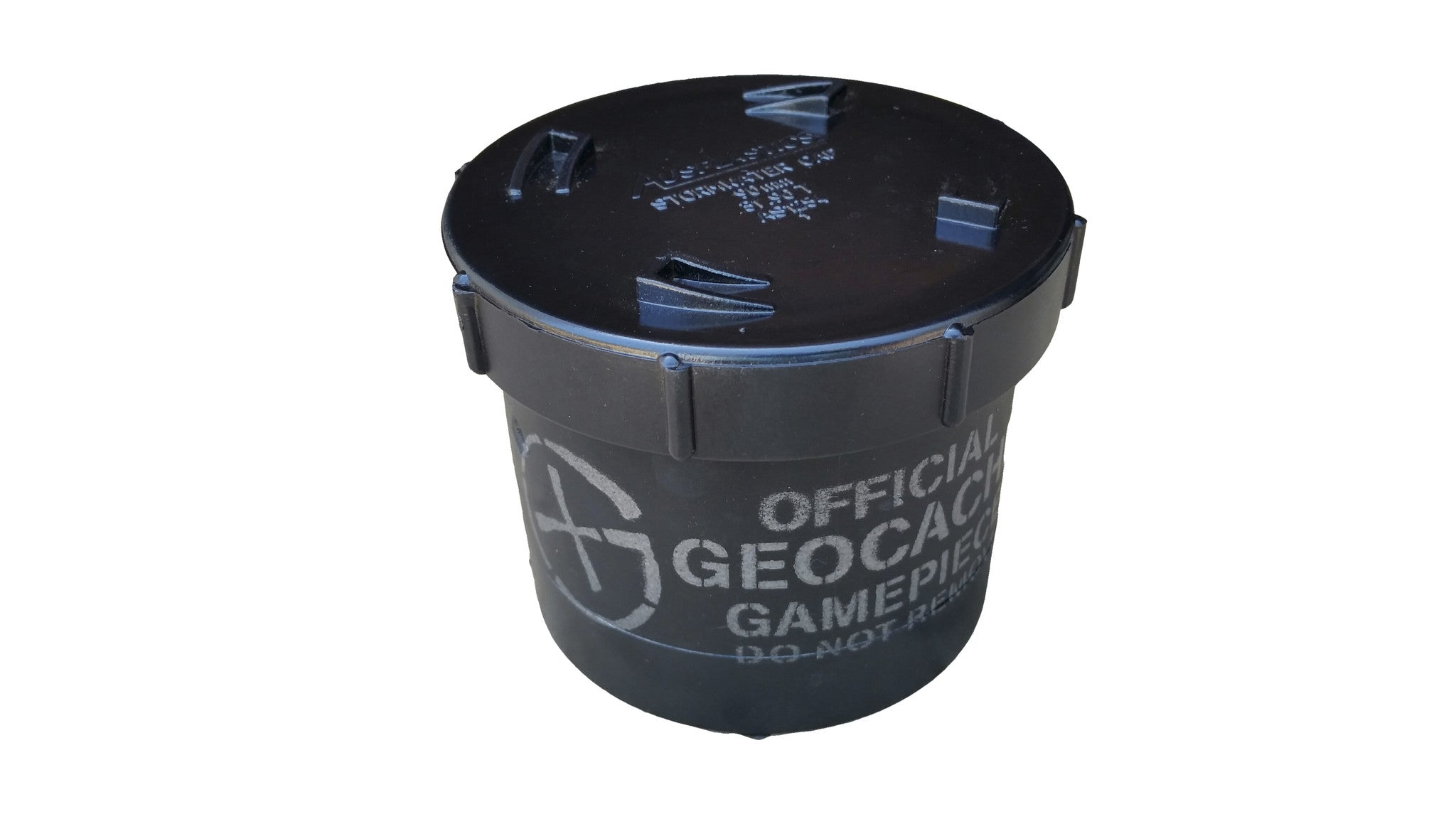 Short 90mm PVC Geocache Container - Black - Ground Zero Geocaching Supplies