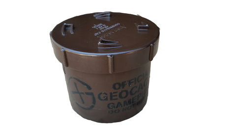 Short 90mm PVC Geocache Container - Brown