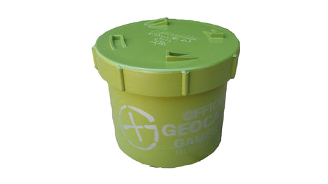 Short 90mm PVC Geocache Container - Green
