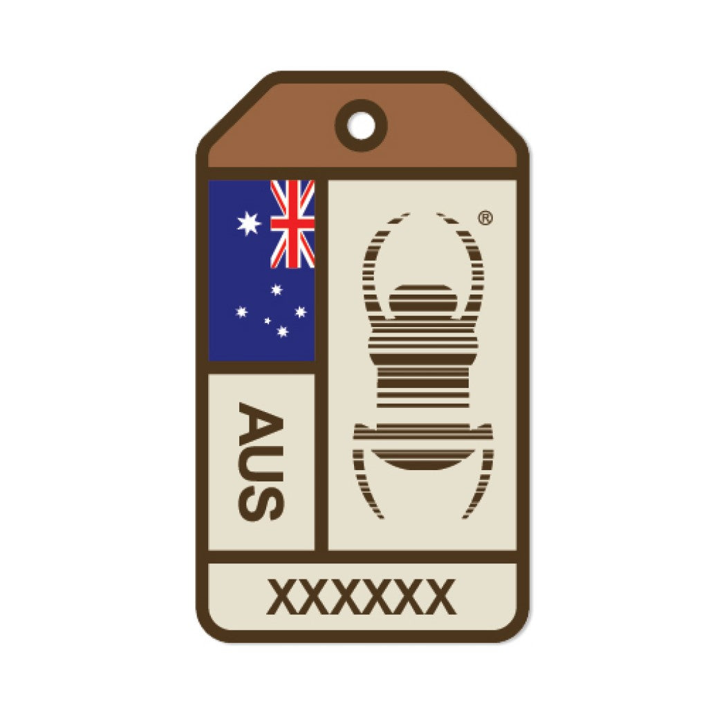 Ground Zero Geocaching Supplies - Travel Bug Sticker Australia