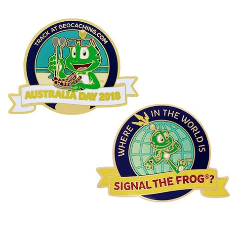 Australia Day Geocoin - Where in the World is Signal the Frog?