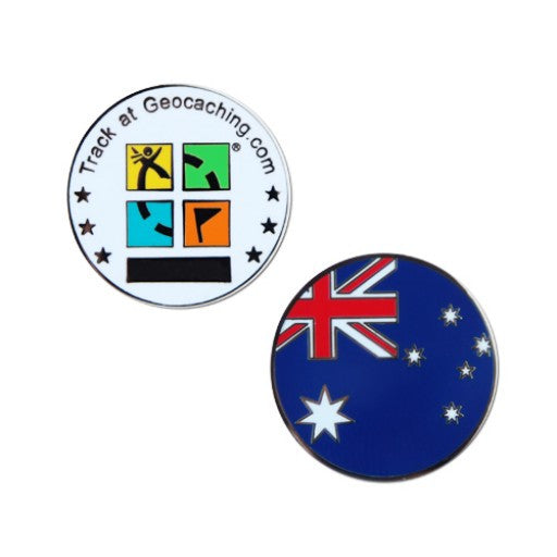 Australian Micro Geocoin - Ground Zero Geocaching Supplies