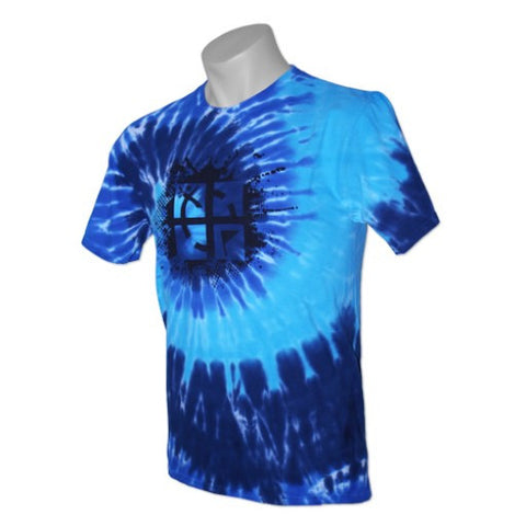 Cache Attack Tie Dye Tee -  Ocean - Ground Zero Geocaching Supplies