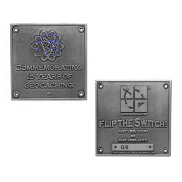 Limited Edition Blue Switch Geocoin - Silver