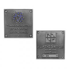 Limited Edition Blue Switch Geocoin - Silver - Ground Zero Geocaching Supplies