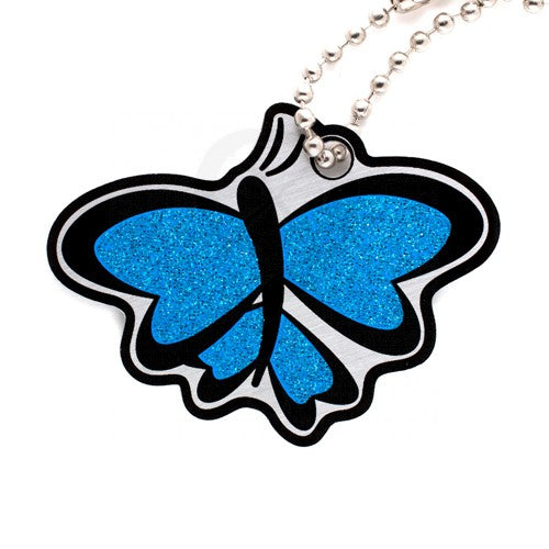 Ground Zero Geocaching Supplies - Blue Glitter Butterfly Cachekinz