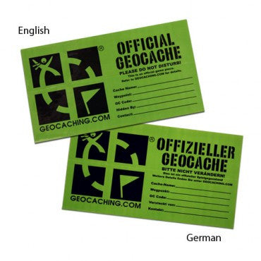 Official Geocache Sticker - Medium - Ground Zero Geocaching Supplies
