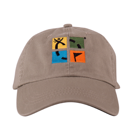Geocaching Logo Cap- Khaki - Ground Zero Geocaching Supplies