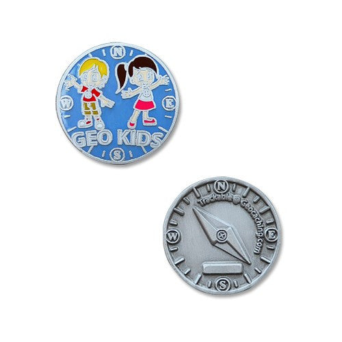 GeoKids Micro Geocoin - Ground Zero Geocaching Supplies  - 1