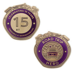 Road Trip Hero Geocoin - Ground Zero Geocaching Supplies