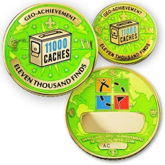11,000 Finds Geo-Achievement Set - Ground Zero Geocaching Supplies