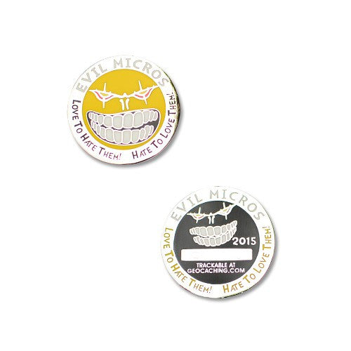 2015 Evil Micro Geocoin - Nickel RE - Ground Zero Geocaching Supplies
