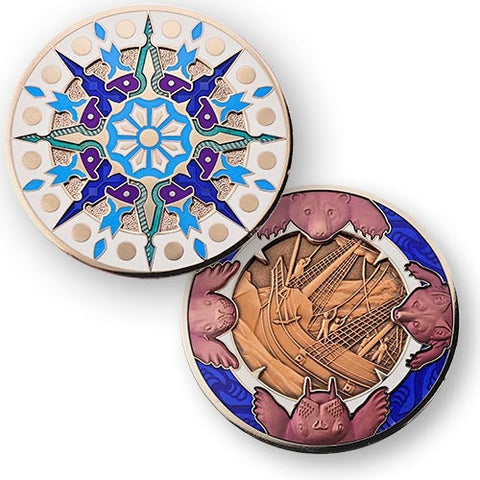 2015 Compass Rose Geocoin - Ice Cape - Ground Zero Geocaching Supplies