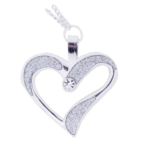 Eternal Love Geocoin Necklace - Polished Silver