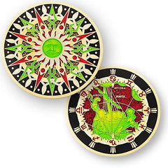 10th Anniversary Compass Rose Geocoin -  Puppis - Ground Zero Geocaching Supplies