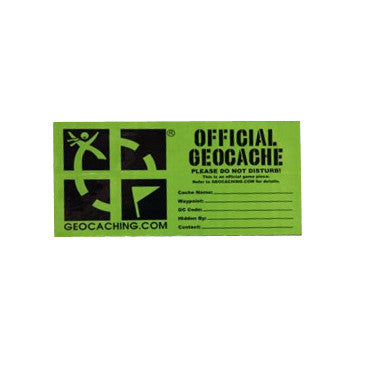 Official Geocache Sticker - Small - Ground Zero Geocaching Supplies