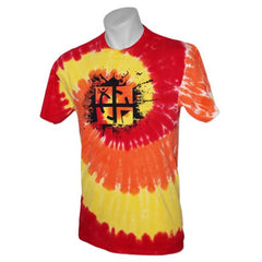 Cache Attack Tie Dye Tee - Blaze Rainbow - Ground Zero Geocaching Supplies