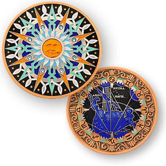 10th Anniversary Compass Rose Geocoin -  Vela - Ground Zero Geocaching Supplies