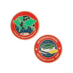 2016 International Geocaching Day Geocoin - Ground Zero Geocaching Supplies