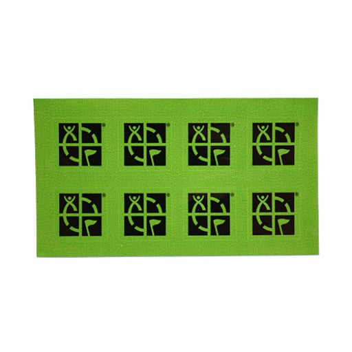 Green/Black Mini Sticker - 8 pk - Ground Zero Geocaching Supplies